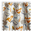 Flower Power Tangerine Orange Modern Floral Made To Measure Curtains