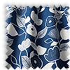 Nordic Flowers Indigo Blue Made To Measure Curtains