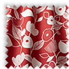 Nordic Flowers Scarlet Red Made To Measure Curtains