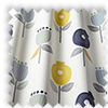 Pomegranate Ochre Yellow Modern Floral Made To Measure Curtains