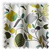 Pomegranate Trail Kiwi Green Modern Floral Made To Measure Curtains