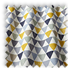 Pyramids Ochre Yellow  Modern Geometric Made To Measure Curtains