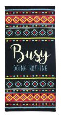 Microfibre Busy Doing Nothing Beach Towel - Multi