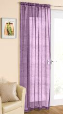 Purple Glitter Voile Curtain Panel