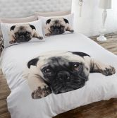 Pug Photographic Duvet Cover Set