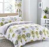 Catherine Lansfield Banbury Floral Reversible Duvet Cover Set - Green