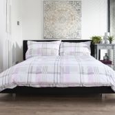 Bricket Wood Check Duvet Cover Set - Pink