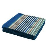 Matelot Striped Floor Cushion - Blue