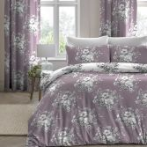 Mirabella Floral Duvet Cover Set - Lavender Purple