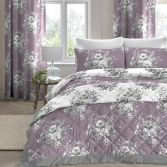 Mirabella Floral Quilted Bedspread - Lavender Purple