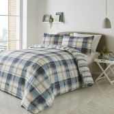 Balmoral Check Duvet Cover Set - Blue