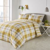 Balmoral Check Duvet Cover Set - Ochre Yellow