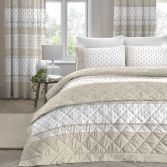 Elodi Floral Quilted Bedspread - Natural