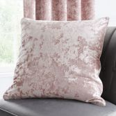 Catherine Lansfield Crushed Velvet Cushion Cover - Blush Pink