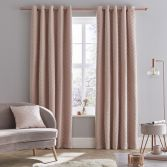 Catherine Lansfield So Soft Luxe Velvet Fully Lined Eyelet Curtains - Blush Pink
