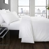 Serene Plain Dye Easy Care Duvet Cover Set - White