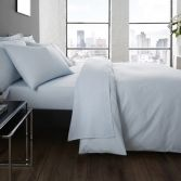 Serene Plain Dye Easy Care Duvet Cover Set - Duck Egg Blue