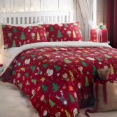 Elf & Santa Christmas Duvet Cover Set - Multi