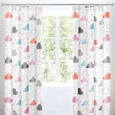 Cosatto Fairy Clouds Kids Pair of Lined Tape Top Curtains - Multi