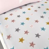 Cosatto Happy Stars Kids Twin Pack Fitted Sheets - Pink
