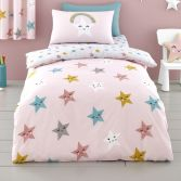 Cosatto Happy Stars Kids Duvet Cover Set - Pink