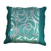 Skye Cushion Cover Teal Silver 45cm x 45cm