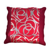 Skye Cushion Cover Red Silver 45cm x 45cm