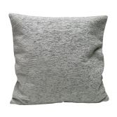 Plain Chenille Cushion Cover 18 Inch - Silver