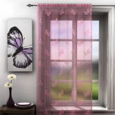 Butterfly Pink Lace Voile Curtain Panel