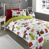 Reindeer White Christmas Duvet Cover Set
