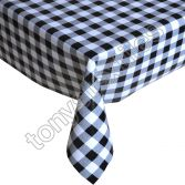 Gingham Check Black Plastic Tablecloth Wipe Clean Pvc Vinyl