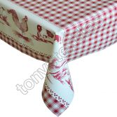 Red Farm Plastic Tablecloth Wipe Clean Pvc Vinyl