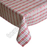 Love Hearts Plastic Tablecloth Wipe Clean Pvc Vinyl