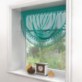 Maisy Macrame Teal Voile Swag
