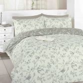 Toile Birds Taupe Duvet Cover Set