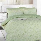 Toile Green Birds Duvet Cover Set