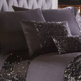Dazzle Sequin Filled Boudoir Cushion - Charcoal Grey