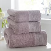 100% Cotton Diamante Supersoft Towel - Heather