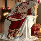Father Christmas Supersoft Blanket Fleece Throw