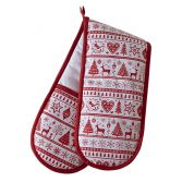 Christmas Noel Red Double Oven Glove