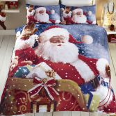 Santa Sleigh Father Christmas Duvet Cover Set