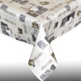Tea Break Plastic Tablecloth Wipe Clean Pvc Vinyl