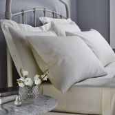 Catherine Lansfield 500 Thread Count Cotton Rich Standard Pillowcases White