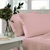 Catherine Lansfield Pair of Non Iron Percale Combed Polycotton Housewife Pillowcases - Candy