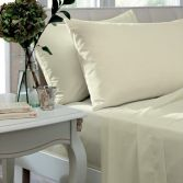 Catherine Lansfield Non Iron Percale Combed Polycotton Flat Sheet - Cream