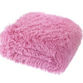 Catherine Lansfield Cuddly Fluffy Throw - Candy Pink