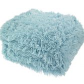 Catherine Lansfield Cuddly Fluffy Throw - Duck Egg