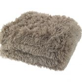 Catherine Lansfield Cuddly Fluffy Throw - Natural