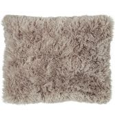 Catherine Lansfield Cuddly Fluffy Cushion Cover - Natural