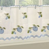 Winchester Gingham Café Net Panel - Blue